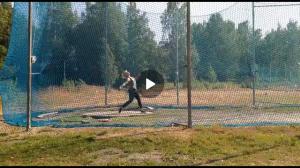 Kiekonheiton loppuveto (Camilla) treeneissä 2019
