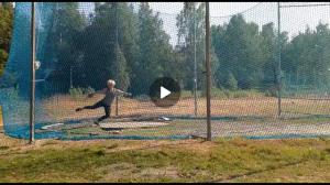 Kiekonheiton nojavaihe (Camilla) treeneissä 2019